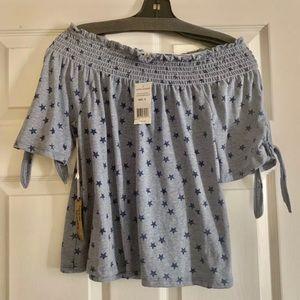 ❗️Hippie Laundry S Blue Stars blouse NWT